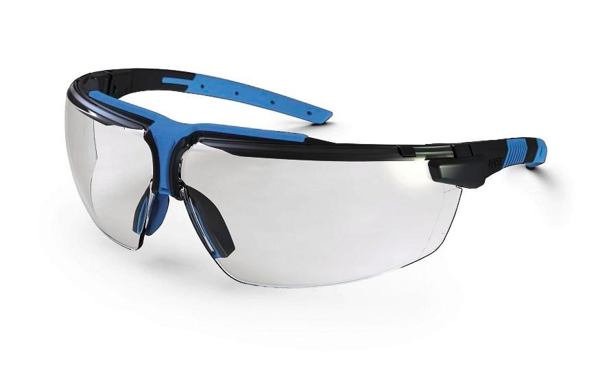Safety spectacle uvex i-3 9190, anthrazit/blue with clear polycarbonat-lense - 1