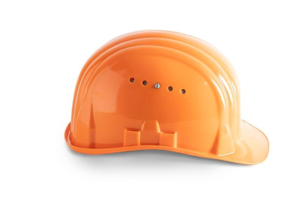 Schuberth safety helmet with 6 point strap, meets DIN-EN 397, orange