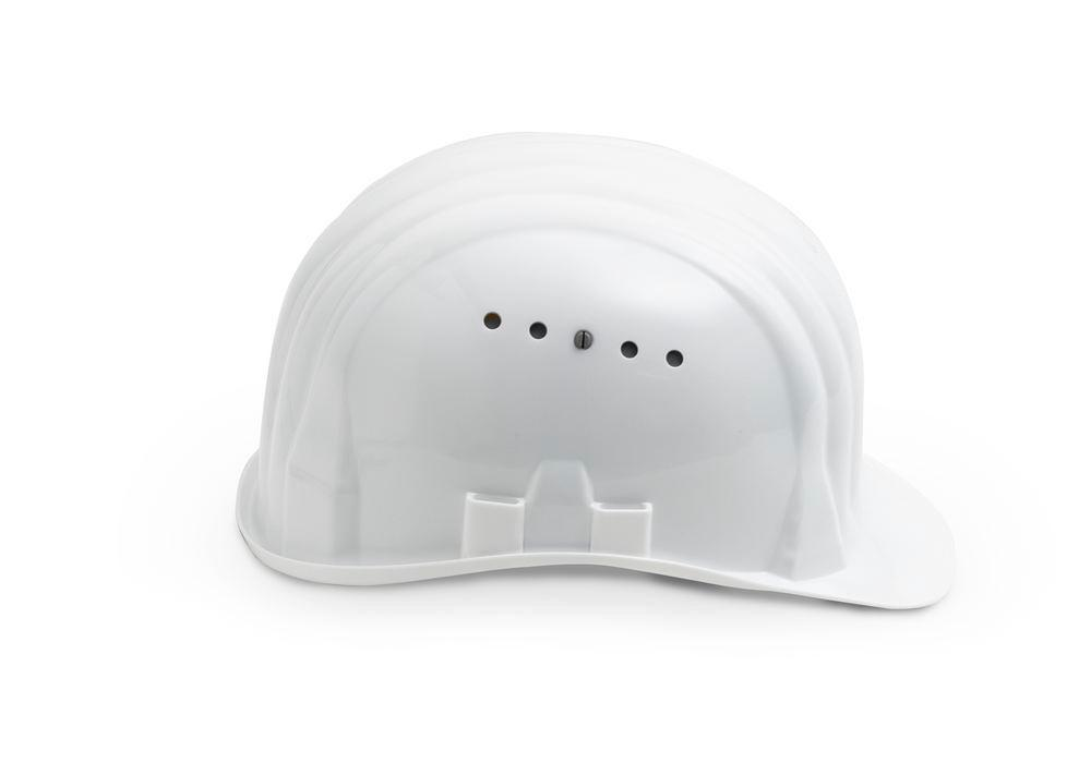 Schuberth safety helmet with 6 point strap, meets DIN-EN 397, white