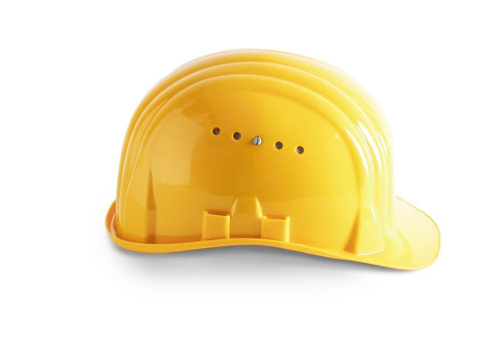 Schuberth safety helmet with 6 point strap, meets DIN-EN 397, yellow - 1