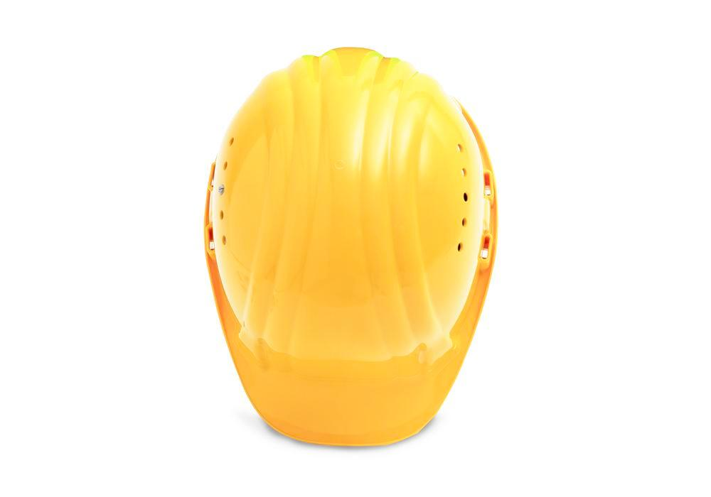 Schuberth safety helmet with 6 point strap, meets DIN-EN 397, yellow