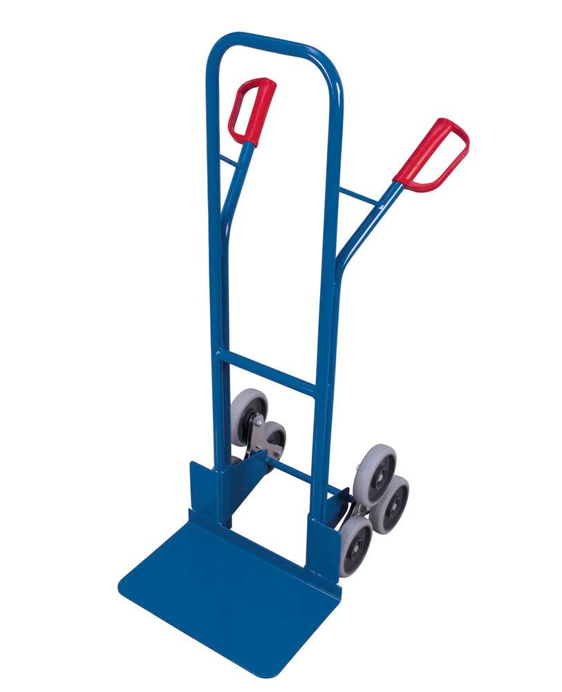 Stair climbing sack truck, 2 x 3-point wheels, load area 480 x 295 mm - 1