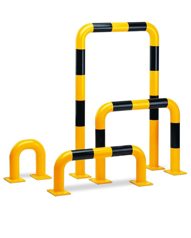 Steel barriers R 7.3 for internal usage, yellow, painted