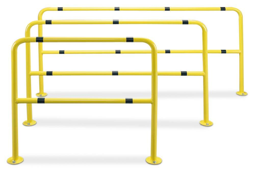U-shaped protection barrier, SB L1, painted, yellow