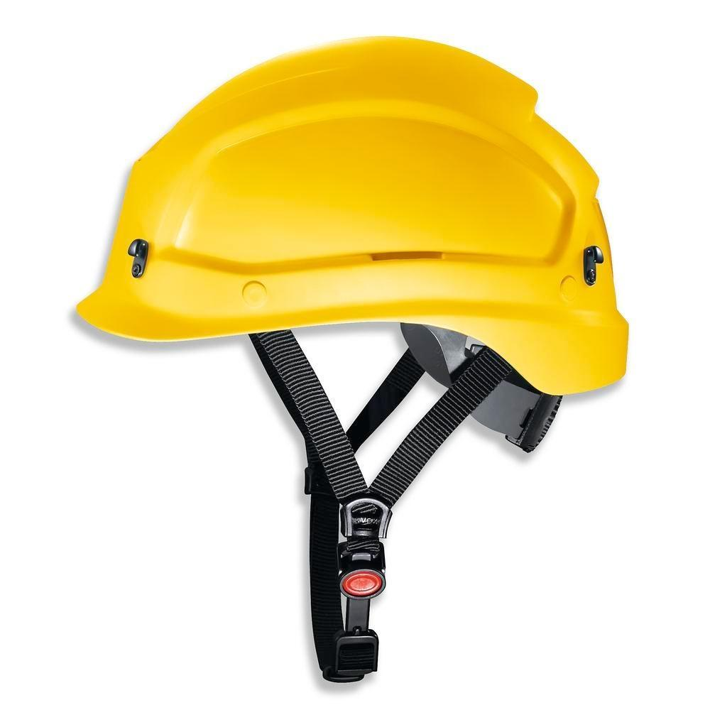 uvex pheos alpine helmet for working at heights and rescue operations. 52 - 61 cm colour yellow