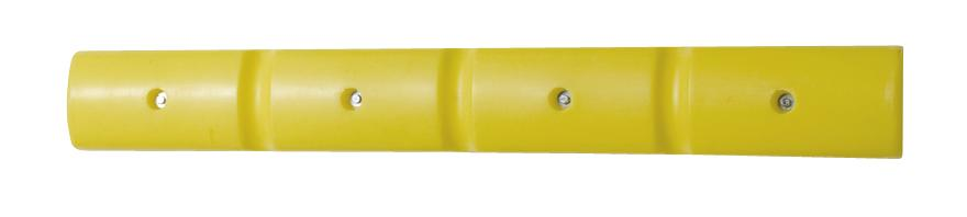 Wall protection profile 1000 in polyethylene (PE), yellow, 1000 x 50 x 125 mm, set = 2 pcs