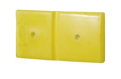 Wall protection profile 500 in polyethylene (PE), yellow, 500 x 50 x 250 mm, set = 2 pcs