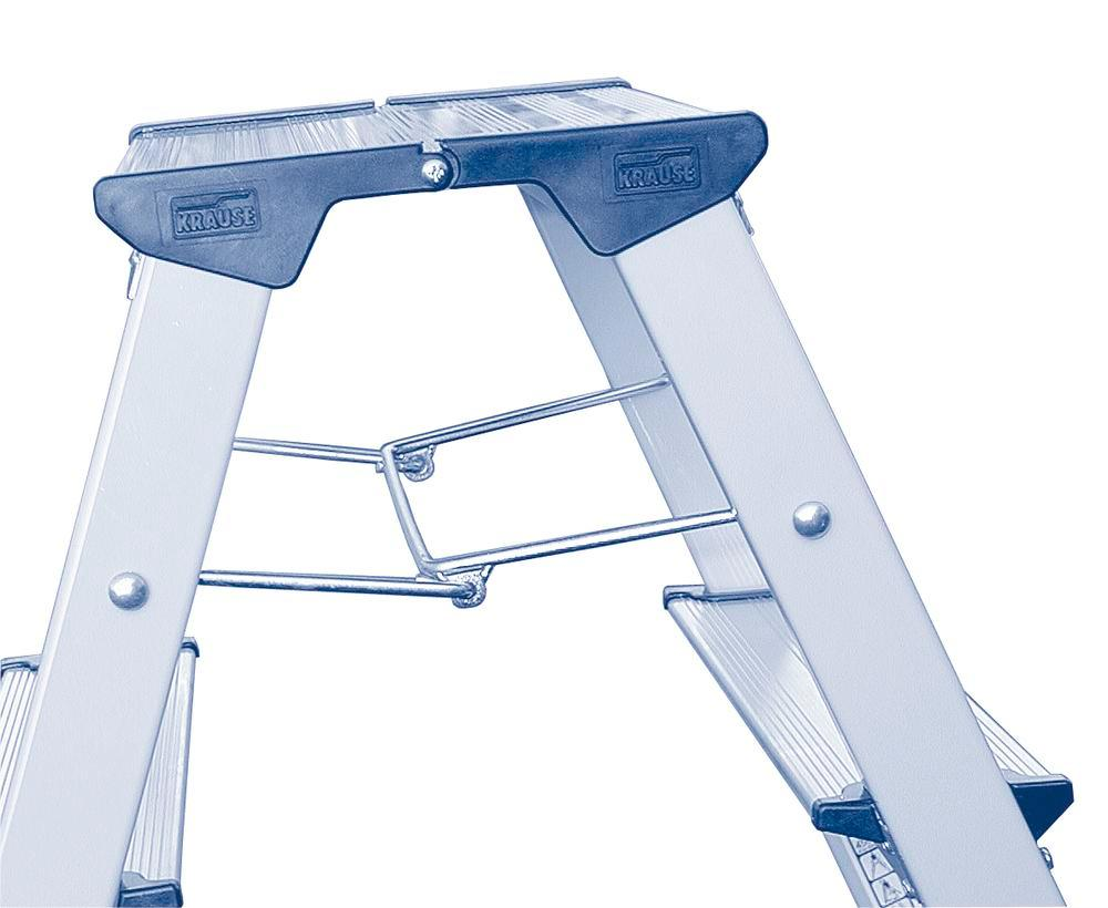 "Aluminium double folding step, with automatic ""Roll / Stop"" and 2 x 3 steps"