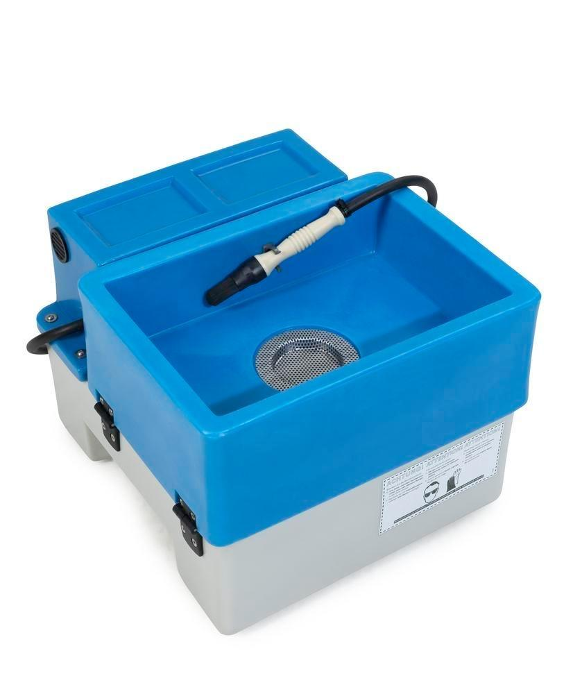 bio.x A25 parts cleaner, complete set including mobile washstand, filter mat and 5 l of concentrate