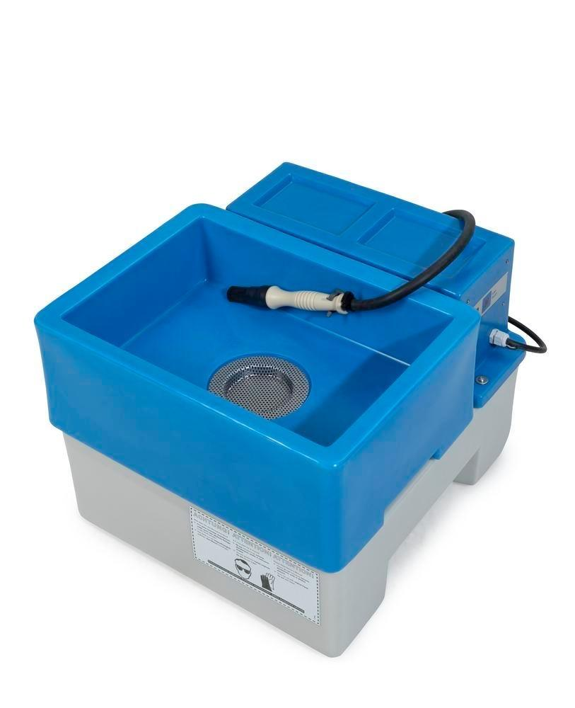bio.x A25 table-top attachment, mobile washstand for biological, solvent-free parts cleaning
