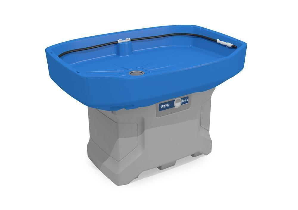 bio.x C100 XL cleaning table, complete set consisting of washstand and initial filling