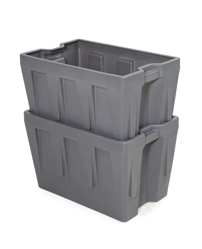 Box insert in polyethylene (PE) for stacking containers PolyPro 260 litre, 437 x 685 x 440 mm - 4