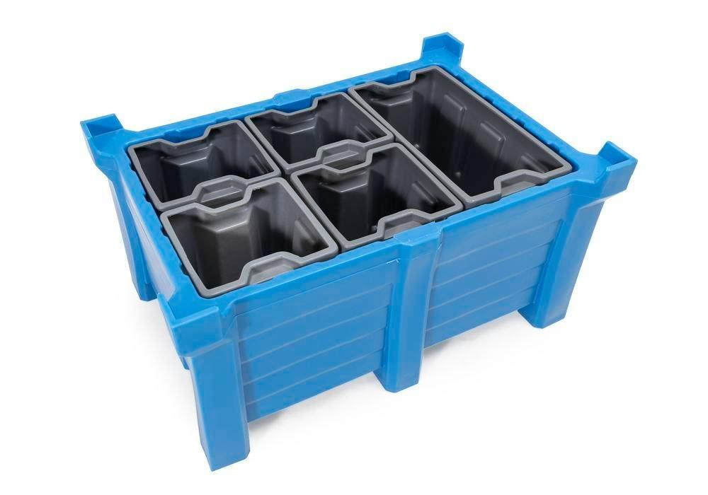 Box insert in polyethylene (PE) for stacking containers PolyPro 300 litre, 351 x 331 x 440 mm - 4