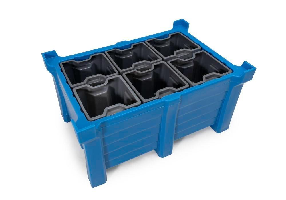 Box insert in polyethylene (PE) for stacking containers PolyPro 300 litre, 351 x 331 x 440 mm - 5