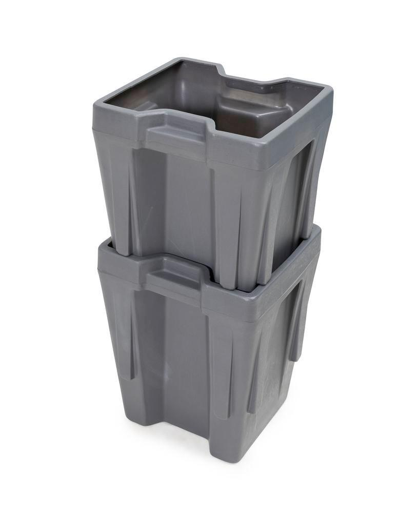 Box insert in polyethylene (PE) for stacking containers PolyPro 300 litre, 351 x 331 x 440 mm
