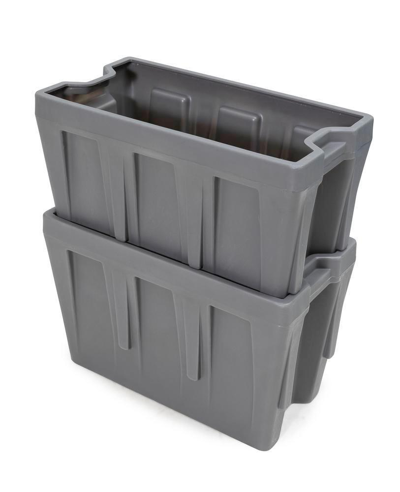 Box insert in polyethylene (PE) for stacking containers PolyPro 300 litre, 351 x 667 x 440 mm - 10