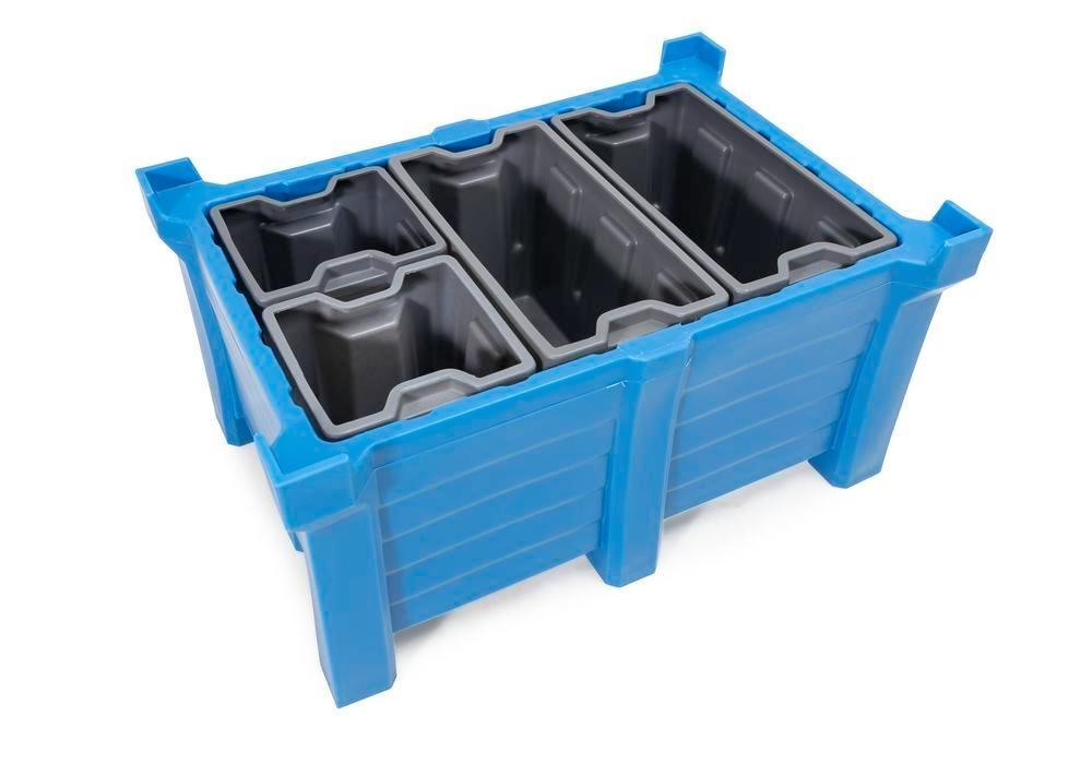 Box insert in polyethylene (PE) for stacking containers PolyPro 300 litre, 351 x 667 x 440 mm - 5