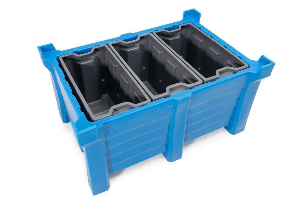 Box insert in polyethylene (PE) for stacking containers PolyPro 300 litre, 351 x 667 x 440 mm - 6