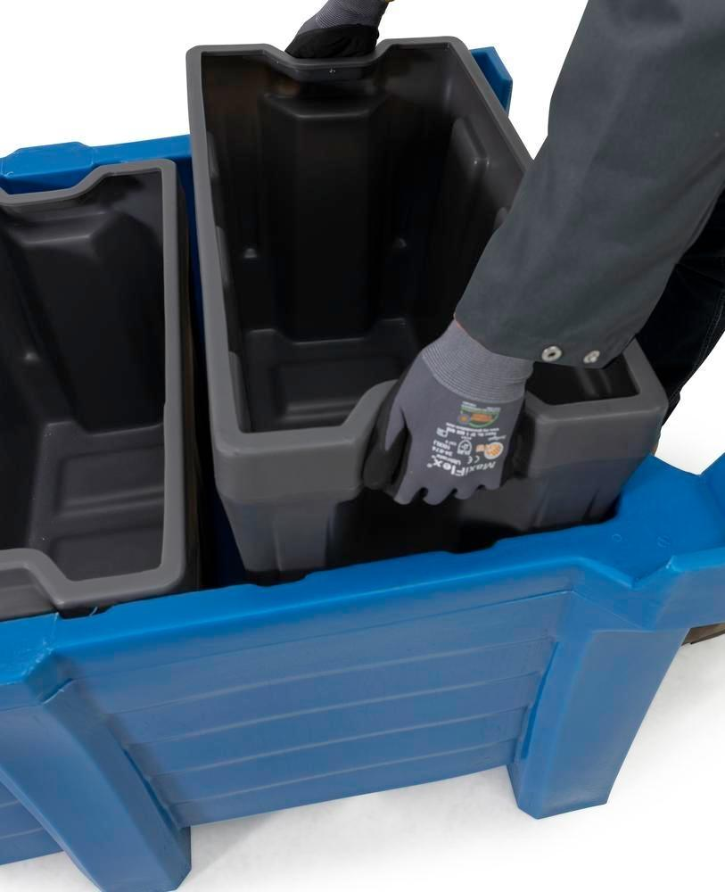 Box insert in polyethylene (PE) for stacking containers PolyPro 300 litre, 351 x 667 x 440 mm - 7