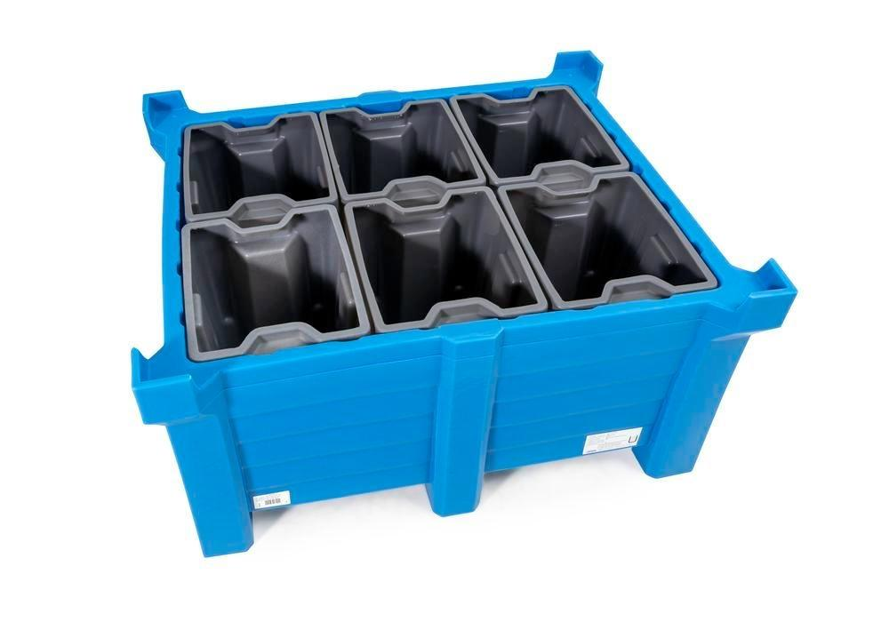 Box insert in polyethylene (PE) for stacking containers PolyPro 400 litre, 351 x 430 x 440 mm - 4