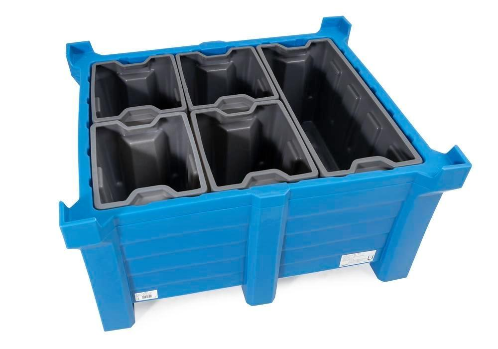 Box insert in polyethylene (PE) for stacking containers PolyPro 400 litre, 351 x 430 x 440 mm - 5