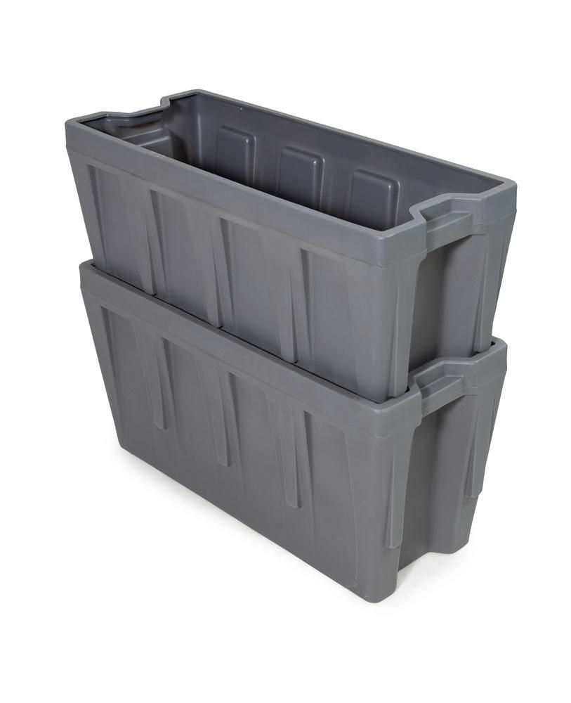Box insert in polyethylene (PE) for stacking containers PolyPro 400 litre, 351 x 865 x 440 mm - 4