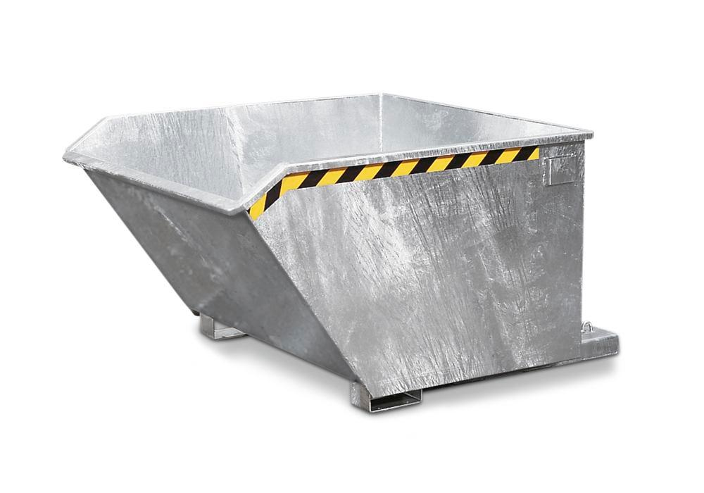 Compact Tipping Skip, 1500l, Galvanised