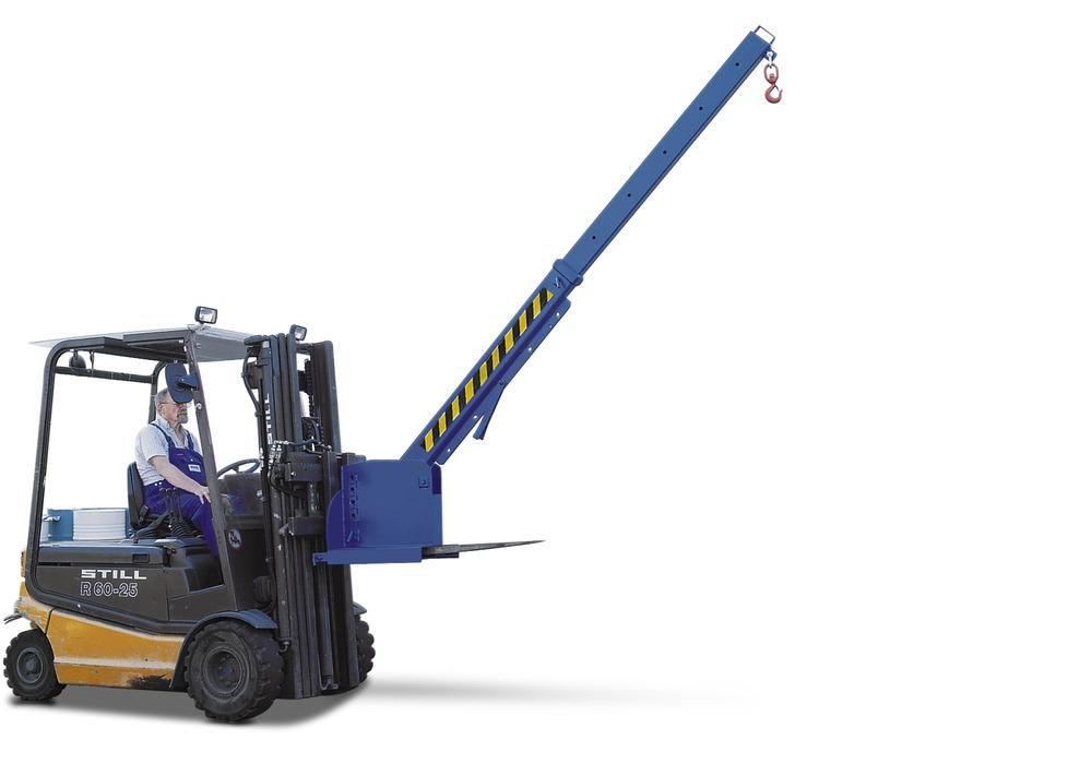 Crane arm KV, painted, extendable horizontally to 6 positions and adjustable to 45°, 650-3000 kg car - 1