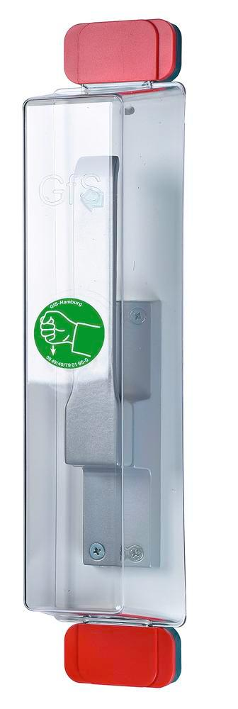 Emergency exit door cover Model E, reusable, incl. pictogram and mounting kit - 1