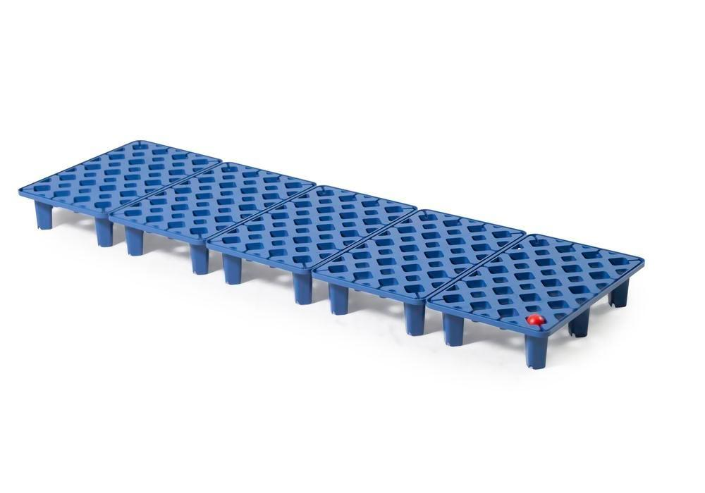 Grid in polyethylene (PE) for PE spill tray for small containers pro-line, 26 litres, 1300x400x90 - 1
