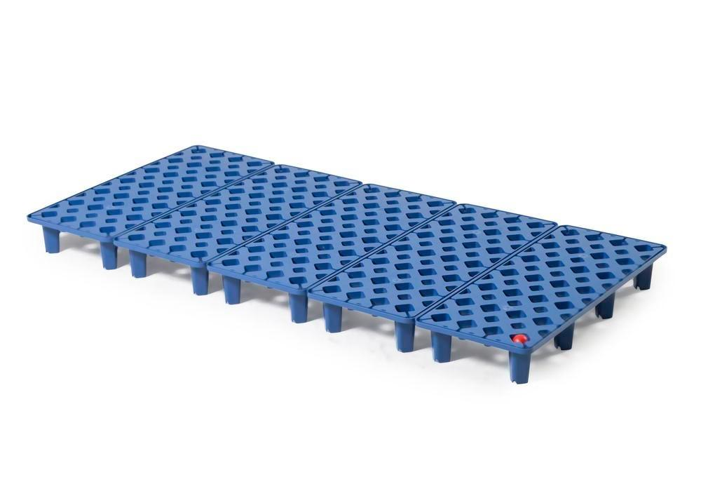 Grid in polyethylene (PE) for PE spill tray for small containers pro-line, 40 litres, 1300x600x90 - 1