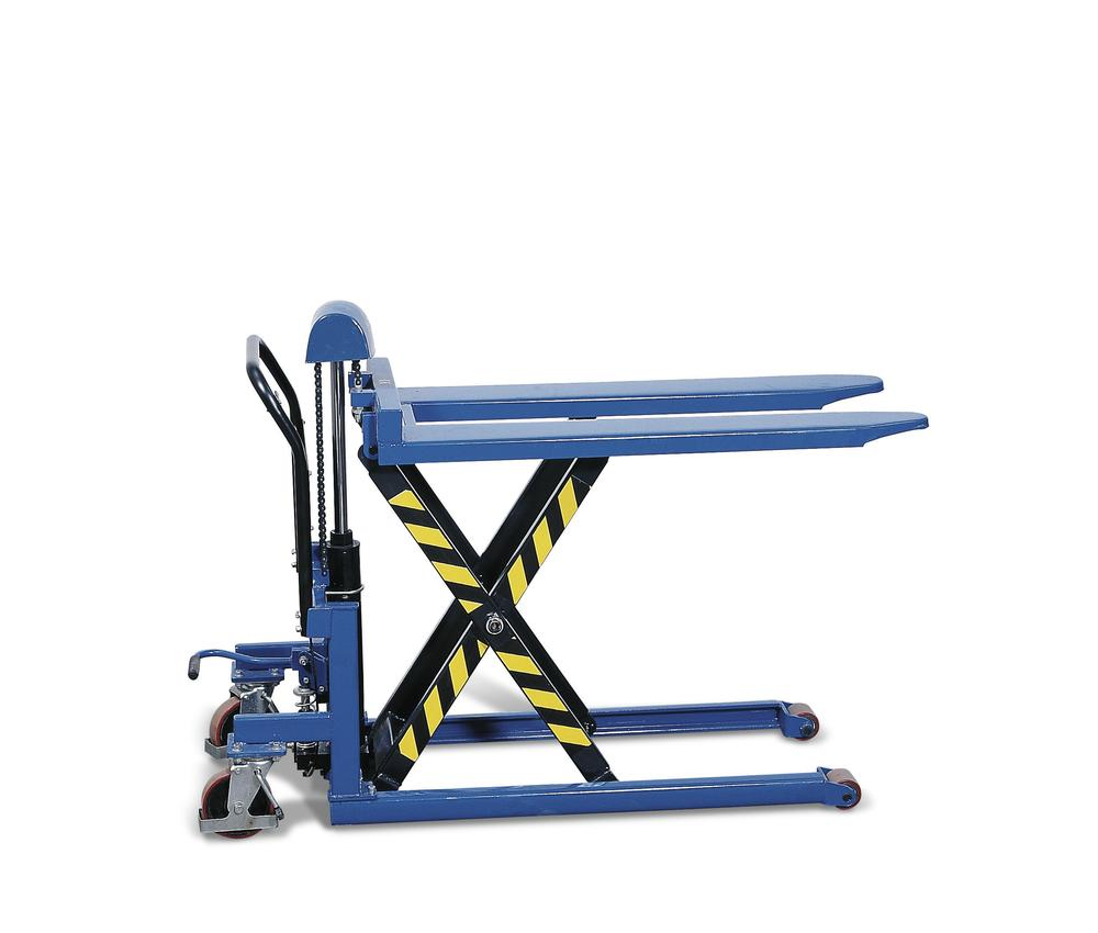 High lift pallet truck, with hydraulic pump, load capacity 500 kg