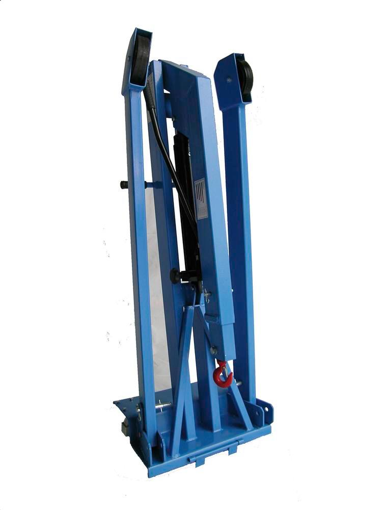 Light crane LBK 1000-W with dual action hand pump, separated frame