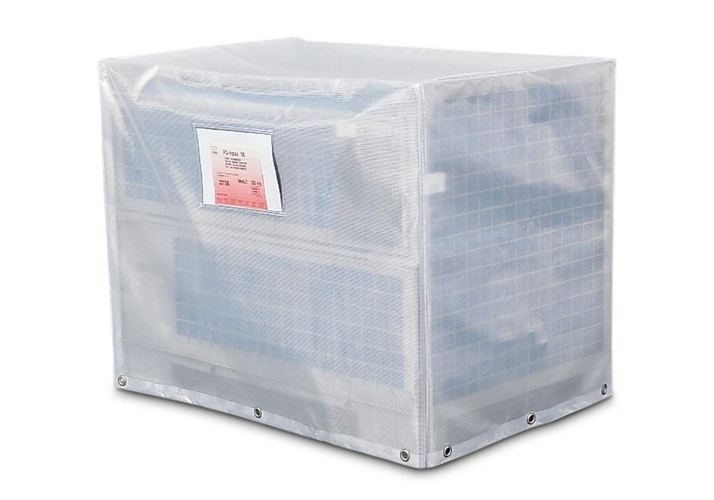 Mesh box pallet hood, closed on all sides