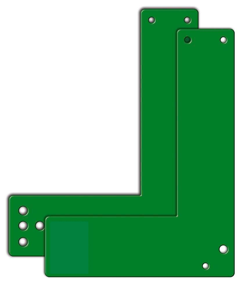 Mounting plates for glass frame doors 20.5 cm long, sabotage-proof with holes