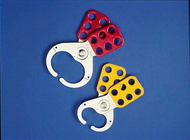 Multi-lock clips, red, Ring 25 mm, secure with up to 6 locks