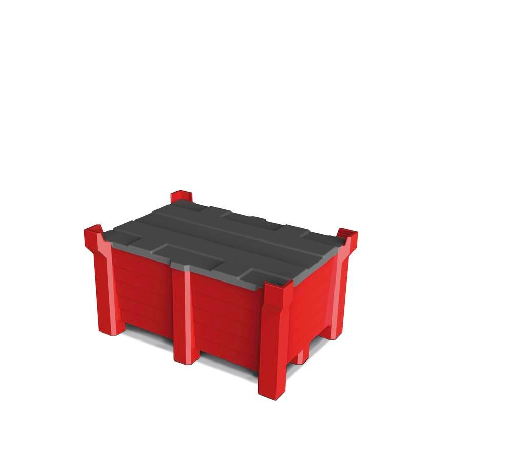 Polyethylene (PE) lid for stackable container PolyPro 800 x 500 mm - 1