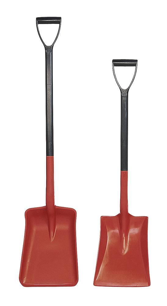 Polypropylene shovel with D handle, corrosion resistant, 1050 cm long