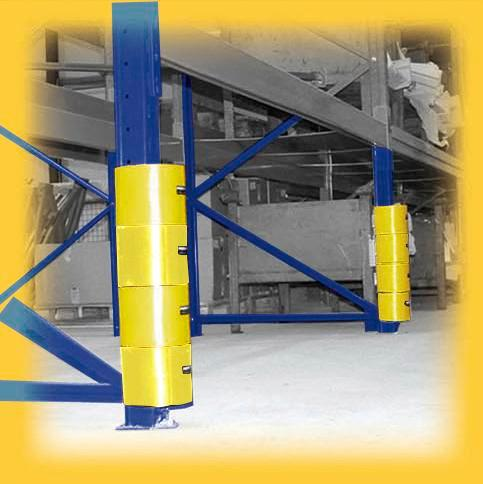 Rack protection system Protect-it A, 2 yellow and 2 black protective rings, set of 4