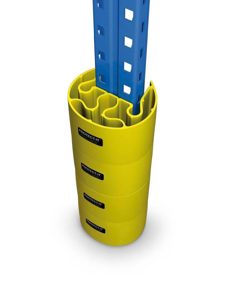 Rack protection system Protect-it B, 2 yellow and 2 black protective rings, set of 4 - 5