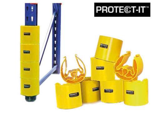 Rack protection system Protect-it B, 2 yellow and 2 black protective rings, set of 4