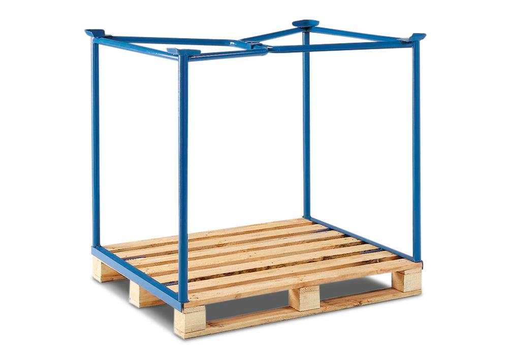 Stackable frame for Euro pallet PH 8, steel, can be stacked 3 high, usable height 800 mm