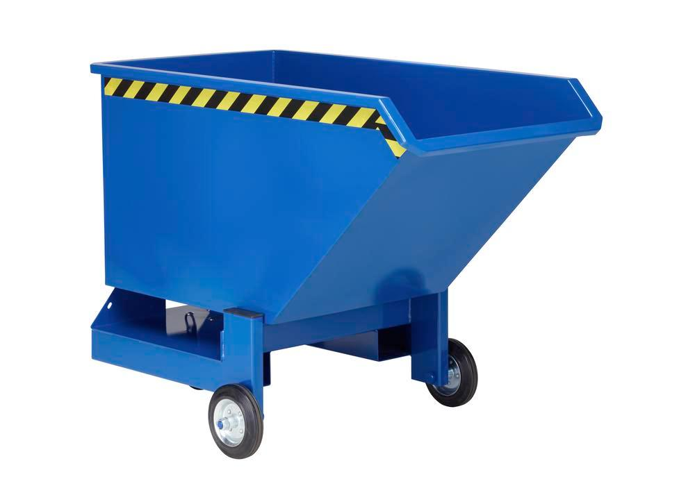 Tipping Trolleys, 250l, Painted Blue