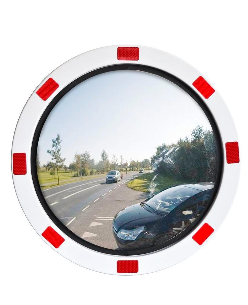 Traffic mirror Durabel Eco, reflective surface in stainless steel, Ø 600 mm