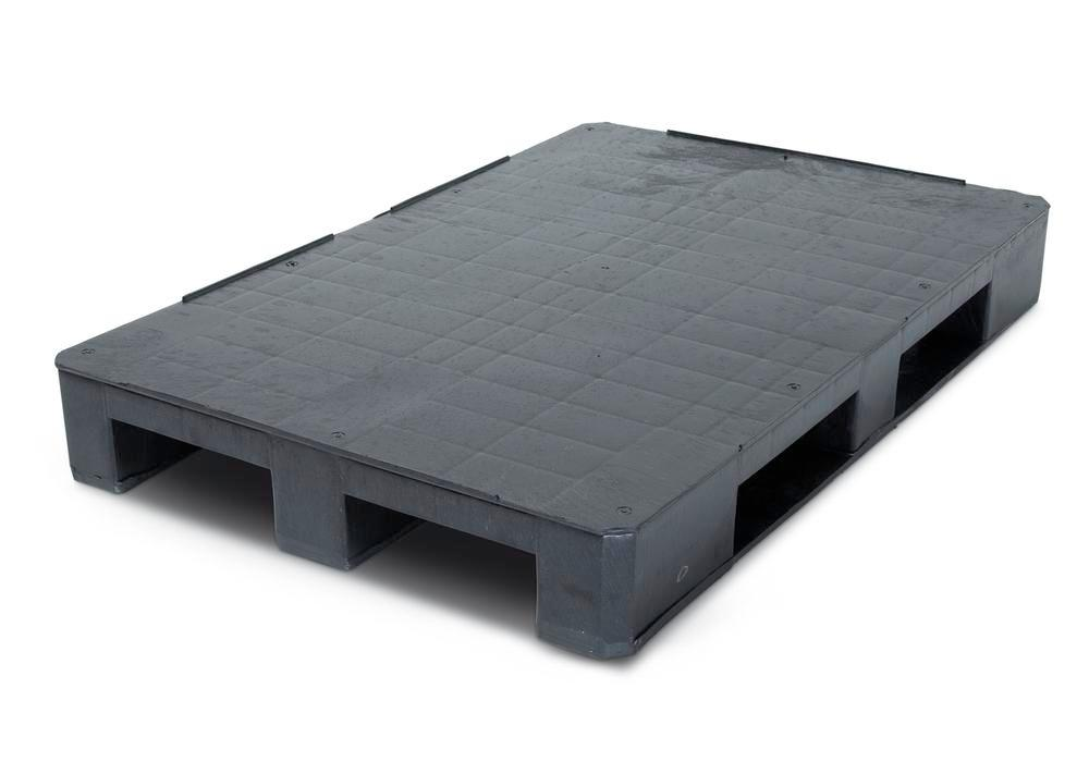 Euro pallet 831-K, heavy duty, made from plastic, with 9 feet, nestable