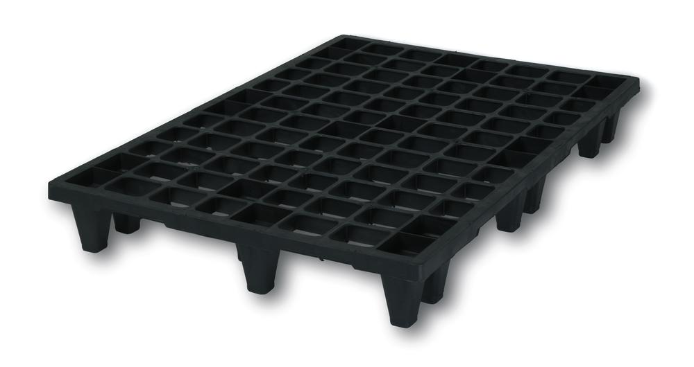 Euro pallet 852, medium duty, made from plastic, with 9 feet, nestable - 1