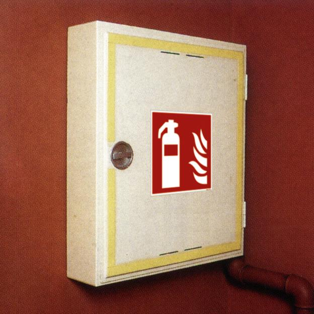 """Fire protection sign """"Fire extinguisher"""", ISO 7010 / ASR 1.3, foil 150 mm x 150 mm"""