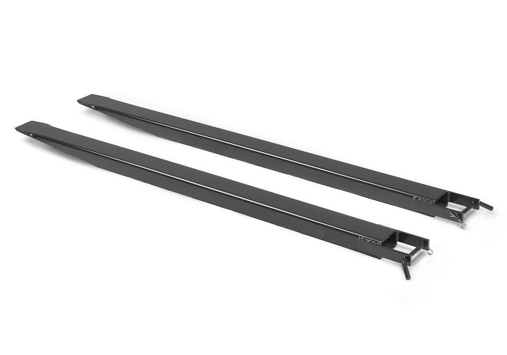 Fork extension, 1800 mm, for fork dimensions 120 x 50 mm, black