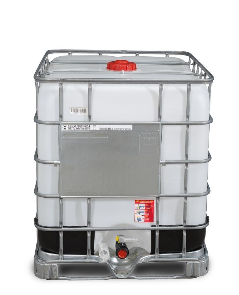IBC hazardous goods container, Ex Design, EVOH, steel runners, 1000 litre, NW150 opening, NW50 drain - 1