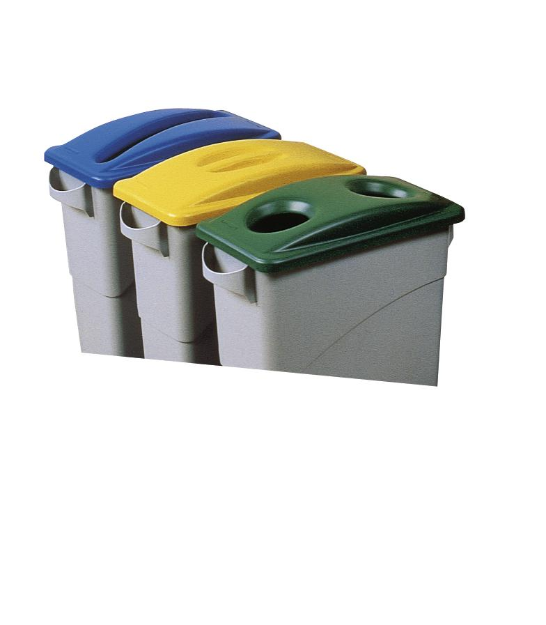 Lid, For Disposal of Glass, for 60 / 90 litre bins, Green - 1